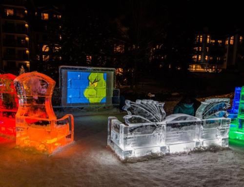Skulpturen aus Eis und Schnee